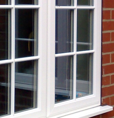 Cleaning white upvc windows